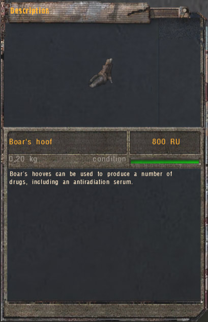 Boar's Hoof (Click image or link to go back)