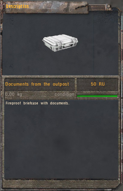 Documents from the outpost (Click image or link to go back)