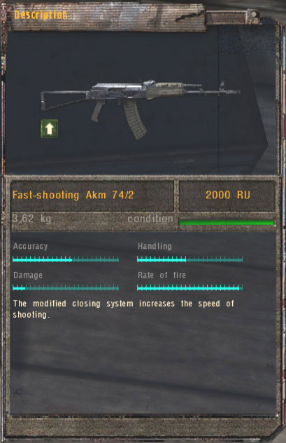 Fast-shooting Akm 74/2 (Click image or link to go back)