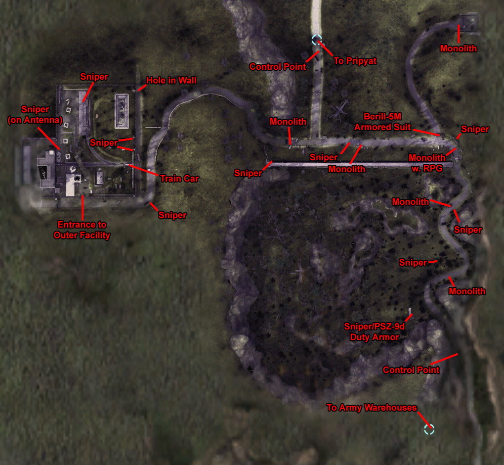 Map of Red Forest (Click image or link to go back)