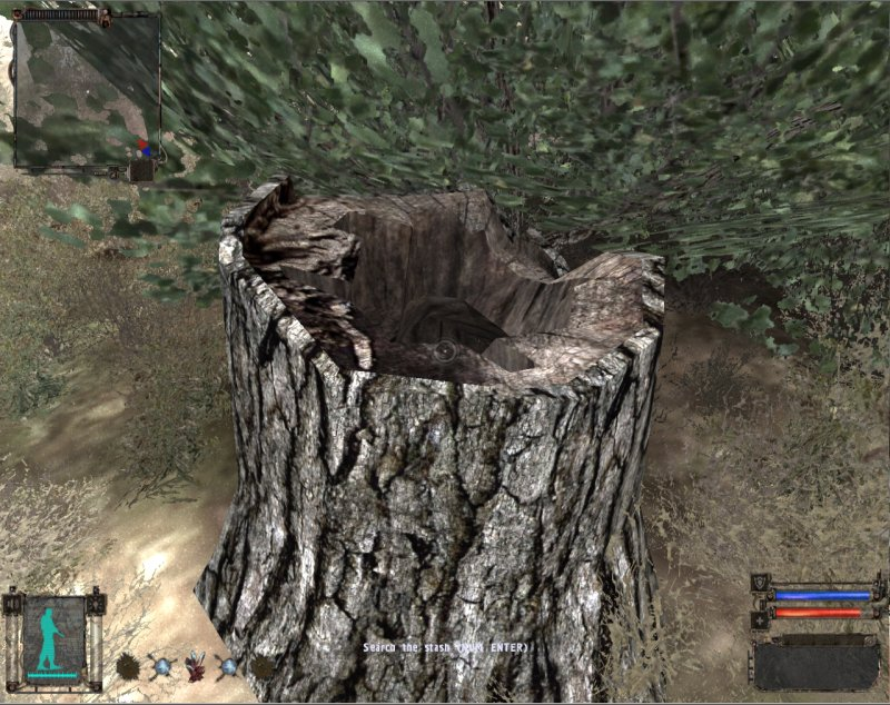 Stash: Stump with hole (Click image or link to go back)