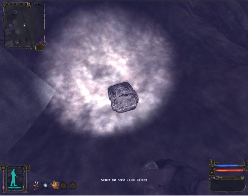 Stash: Backpack in the tunnel (Click image or link to go back)