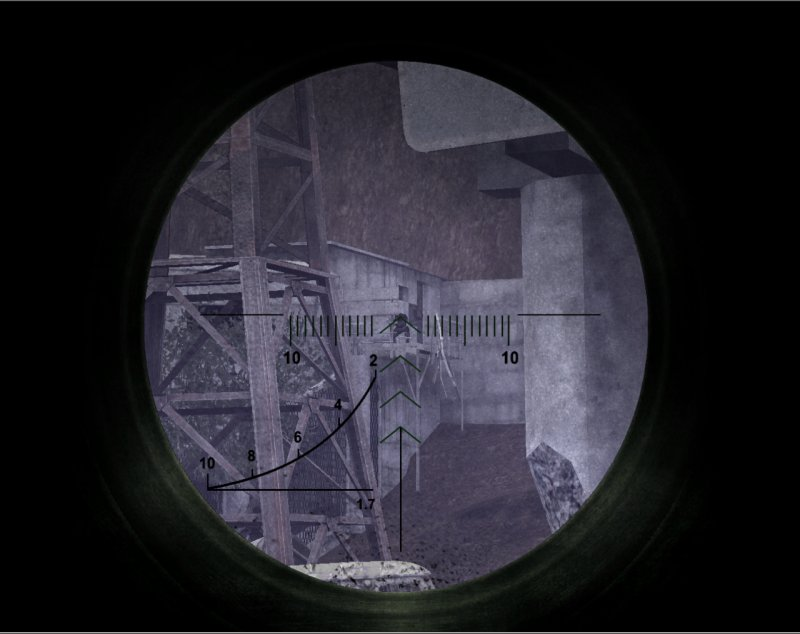 Another sniper ahead on an elevated walkway (Click image or link to go back)