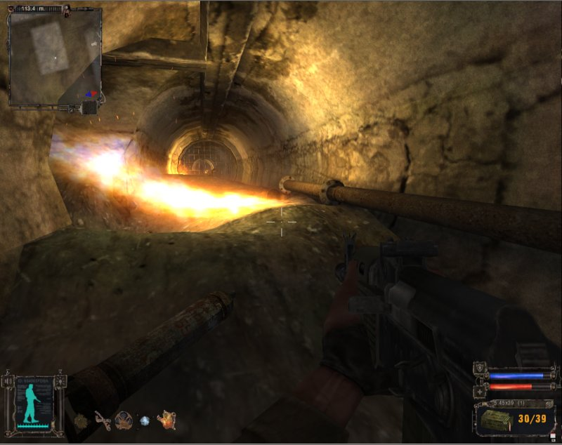 Jump onto the pipe and move across to avoid the flame (Click image or link to go back)