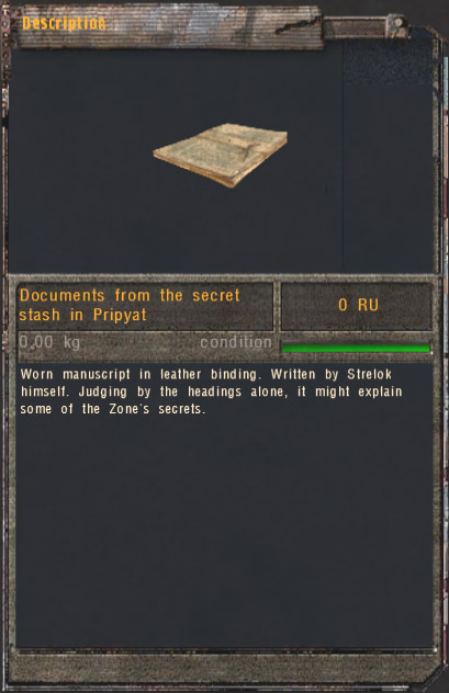 Documents from the secret stash in Pripyat (Click image or link to go back)